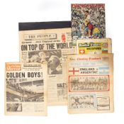 A FOLIO OF NEWSPAPERS including The People Sunday July 31st 1966 World Cup Special, Evening Standard