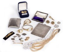 SILVER JEWELLERY AND WATCHES to include an early 20th century Tudor ladies wristwatch with a fifteen