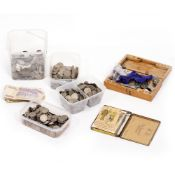 A COLLECTION OF ANTIQUE AND LATER COINAGE to include 1940's and 50's two shilling pieces At present,