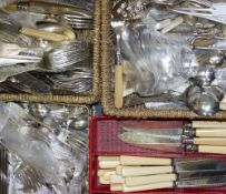 A MIXED COLLECTION OF ANTIQUE AND LATER SILVER PLATED CUTLERY At present, there is no condition