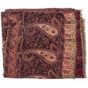 A FLOWER DECORATED SHAWL 208cm long x 100cm wide Condition: a modern shawl in good condition