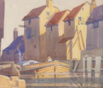 GRIFFIN (POSSIBLY FREDERICK GRIFFIN 1906-1976) Waterway, Newcastle, watercolour on board, signed