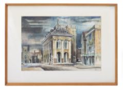 K.E. WADE Town Hall Abingdon, watercolour, 35cm x 51cm, framed and glazed Condition: painting is