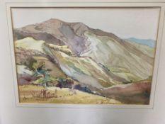 JOY KRAUSE Magoebas Kloof, watercolour, 26cm x 37cm; R.S. Deeves, possibly South African