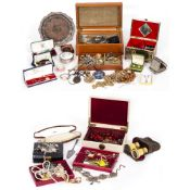 A LARGE QUANTITY OF JEWELLERY AND COSTUME JEWELLERY At present, there is no condition report