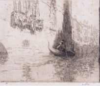 JAMES MCBEY (1883-1959) Venice, dry point etching, signed and dated 1925 lower left, numbered XIII