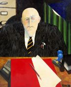 ALAN POTTER The Inquisitor IV, acrylic on canvas, signed and dated '88, titled and dated 1988 on the