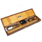 AN AMERICAN CYSTOSCOPE MAKERS, INC. NEW YORK BORESCOPE in a fitted wooden case, the borescope