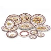 A PALISSY GAME SERIES PART DINNER SERVICE to include fourteen platters each 36cm wide Condition: the
