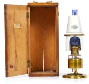 A LATE 19TH CENTURY MICROSCOPE OIL LAMP by Swift & Son of 81 Tottenham Court Road (circa 1877-1881),