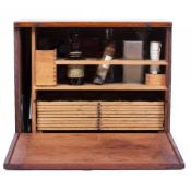 A LATE 19TH CENTURY W F STANLEY MAHOGANY SLIDE PREPARATION CABINET by Stanley of Railway Approach,
