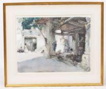 SIR WILLIAM RUSSELL FLINT (1880-1969) 'Conversation, St.Martin d'Ardéche', lithograph in colours,
