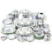 A SPODE SUMMER PALACE PATTERN CHINA SERVICE to include tea and coffee vases etc At present, there is