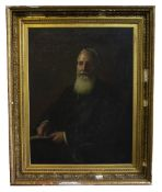 A LARGE EARLY 20TH CENTURY HEAD AND SHOULDER PORTRAIT OF SIR ROBERT APPLEBY BARTRAM (1835-1925) 'The