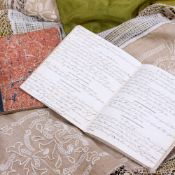 A 19TH CENTURY HAND WRITTEN ACCOUNT OF THE WHITTUCK LUDLOW WATLEY HARRIS & PAYNE FAMILIES in two