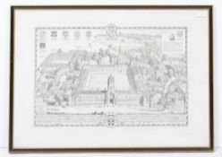 A GROUP OF DECORATIVE PICTURES AND PRINTS to include a large print depicting Christ Church College