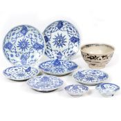 AN ORIENTAL PORCELAIN BOWL from the Hoi An hoard, 14.8cm diameter together with a collection of