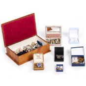 TWO JEWELLERY BOXES with a mixed collection of jewellery and costume jewellery At present, there