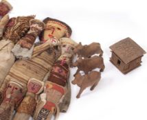 A COLLECTION OF 17 ETHNIC CLOTH DOLLS