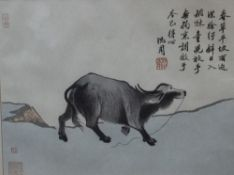 A COLLECTION OF CHINESE AND JAPANESE PRINTS to include a Japanese woodblock print 'Warriors', 24cm x