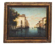 AN EARLY 20TH CENTURY VENETIAN SCENE oil on canvas, 39cm x 48cm; H Tunstall, coastal scene with