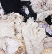 A COLLECTION OF 19TH CENTURY AND LATER LACE VEILS AND OTHER TRIMMINGS Condition: in mixed condition