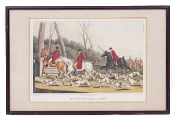 A COLLECTION OF TWELVE VARIOUS HUNTING AND FISHING PRINTS 19th century and later (as found) At