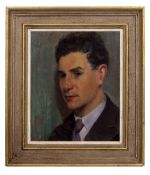 ATTRIBUTED TO HARRY JOHN PEARSON (1872-1933) a head and shoulder portrait of a young man, oil on