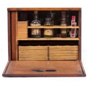 A LATE 19TH CENTURY W F STANLEY MICROSCOPE SLIDE PREPARATION CABINET the mahogany cabinet signed