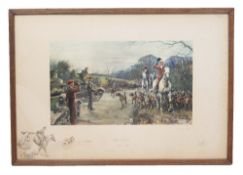 A GROUP OF STEEPLE CHASE AND HUNTING RELATED PRINTS to include 'Snaffles The Season 1939-40', print,