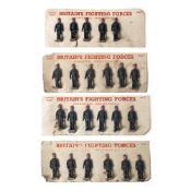 A COLLECTION OF TWENTY THREE EARLY 20TH CENTURY BRITAINS FIGHTING FORCES GRANGE SERIES PAINTED