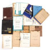A COLLECTION OF MILITARY HANDBOOKS to include handbooks for a 10 Ton Leyland Hippo, a Caterpillar,