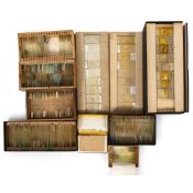 A COLLECTION OF LATE 20TH CENTURY PREPARED MICROSCOPE SLIDES of biological samples to include some