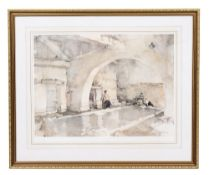 SIR WILLIAM RUSSELL FLINT (1880-1969) Lithograph in colours published by The Medici Society, 50cm
