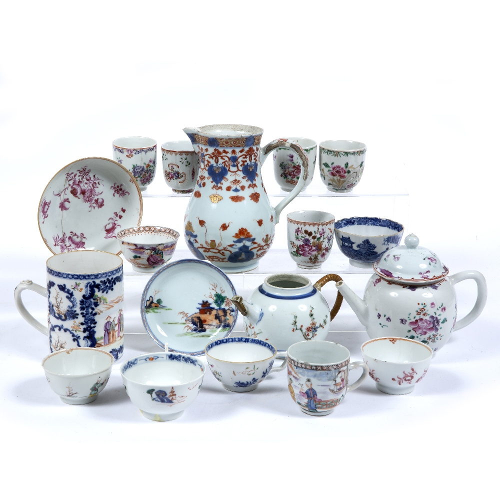 Lot 95 - Group of porcelain pieces Chinese, 18th/19th Century to include an export Imari jug 17cm high two
