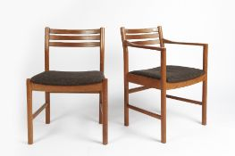Robert Heritage (b.1927) for Archie Shine Furniture two dining chairs, one standard, one elbow chair