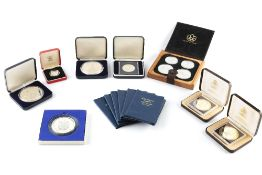 A COLLECTION OF SILVER PROOF COINS, comprising: Canada Winter Olympics 1976 four coin proof set;