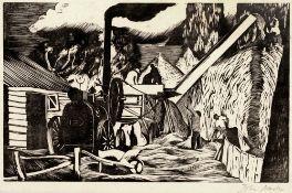 John Northcote Nash (1893-1977) The Threshing Machine, circa 1925 signed in pencil (in the margin)
