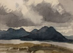 Charles Knight (1901-1990) Looking towards Jura from the Scottish Mainland, circa 1948 signed (lower