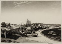 Norman Thomas Janes (1892-1980) A Beach in Cyprus, 1950 signed, dated, and titled in pencil (in