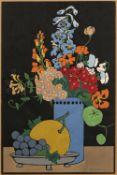 Hall Thorpe (1874-1947) Flowers and Fruit signed in pencil (lower right) woodcut 47 x 33cm.