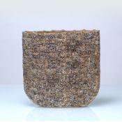 Geoffrey Eastop (1921-2014) Wall vessel, circa 2000 hand-built stoneware painted potter's monogram
