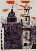 Julian Trevelyan (1910-1988) St Paul's, 1964 from the London Suite artist's proof, inscribed with
