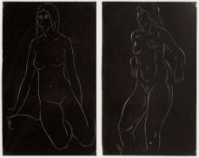 Eric Gill (1882-1940) Two pairs of female nudes from Eric Gill, Twenty-Five Nudes, London: J. M.