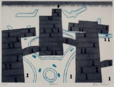 Julian Trevelyan (1910-1988) Heathrow, 1973 printer's proof, signed and titled in pencil (in the
