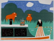 Julian Trevelyan (1910-1988) Canal Holiday, 1975 35/100, signed and numbered in pencil (in the