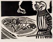 Edward Bawden (1903-1989) 'It was I', said Balin, 'that slew this Knight in my defence'; and 'Ah,