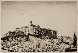 Henry George Rushbury (1889-1968) S.Agostino, S. Gimignano, 1927 signed in pencil (in the margin)