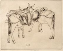 Robert Sargent Austin (1895-1973) Donkeys of Selva, 1928 signed in pencil (in the margin) etching 14