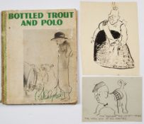 Edmund Blampied (1886-1966) Two comical sketches both signed and one dated 1936 with the book